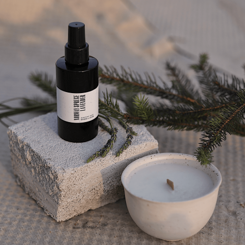 Scented Set natural candle and mist Norway Spruce + Lavender