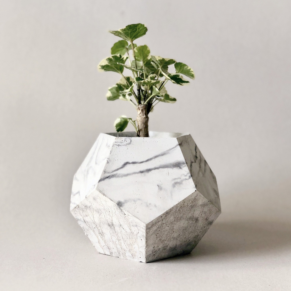 Doniczka B-Decahedron Marble